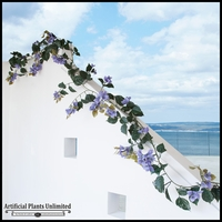 Outdoor Artificial Vines -  9 -1/2 Feet Garland  - Purple