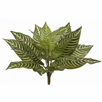 Outdoor Artificial Zebra Plant, 11in.