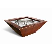 Saxony Hammered Complete Fire Bowl - Match Light