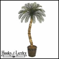 Outdoor Rated 10 ft Artificial Cycas Palm 36 Fronds