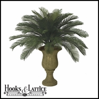 Outdoor Rated 3' Large Sago Palm Cluster