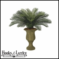 Outdoor Rated 3' Small Sago Palm Cluster