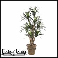 Outdoor Rated 5 Foot Liriope Tree with Natural Trunks
