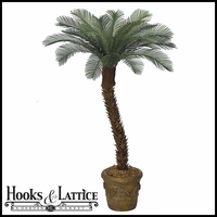 Outdoor Rated 6 ft Artificial Small Sago Palm Tree