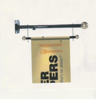 Outdoor Wall Mount Banner Brackets