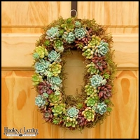 Oval Succulent Wreath