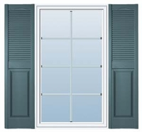 Panel & Louvered Vinyl Decorative Exterior Shutters