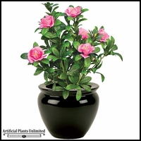 Pink Azalea Bush 18in. Indoor Artificial