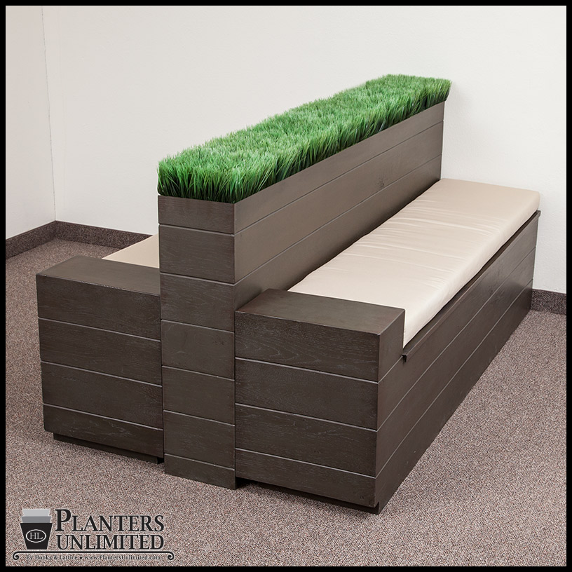 Bench Systems with Integrated mercial Planters Planters