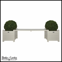 Planters with Bridge Bench - White