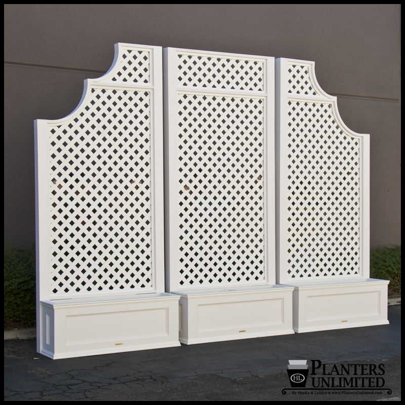 Planters With Trellises Trellis Planters Hooks Amp Lattice