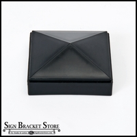 "PLASTIC Cap for 3"" Sq Post - Black"