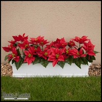 Poinsettia Window Box - Laguna w/ Easy Up Cleat Mounting System