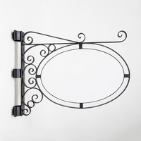 Pole or Post Mount Double Oval Sign Frame w/ Scroll | Includes 36in. x 24in. x 1in. Oval Blank