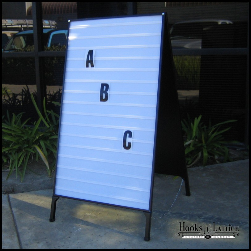 portable a frame changeable letter folding signs