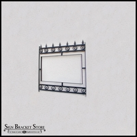 """Post and Panel Gothic Style Sign Frame - 42"""" x 42"""""""