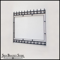 "Post and Panel Gothic Style Sign Frame - 54"" x 78"""