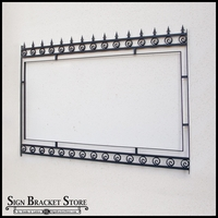 "Post and Panel Gothic Style Sign Frame - 66"" x 102"""