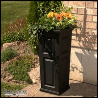 Presidential Tall Patio Planter - Black