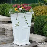 Prestige 30in. Tall Planter - White