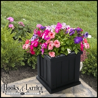 "Promenade 14"" Square Planter-Black"