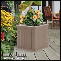 "Promenade 16"" Square Planter-Clay"