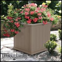 "Promenade 20"" Square Planter-Clay"