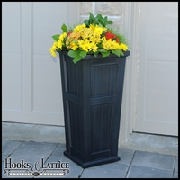 Promenade Tall Patio Planter-Black
