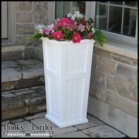 Promenade Tall Patio Planter-White