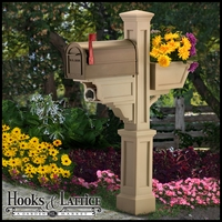 Promontory  Mail Post with Planter