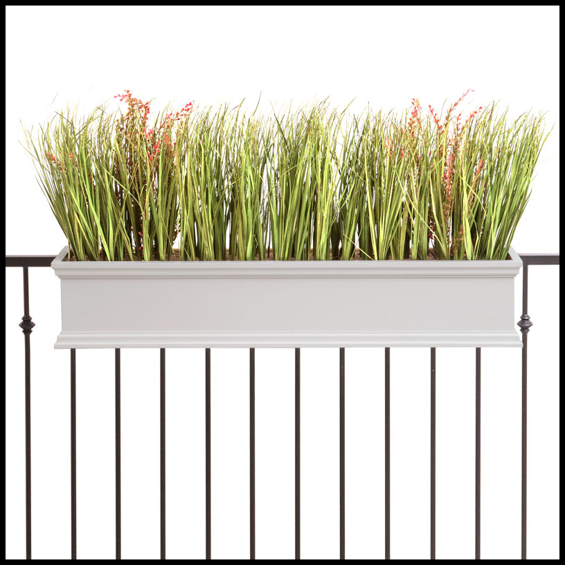 Lattice Rail Flower Box Is A Superb Addition To Decks: Planters For Railings - Hooks