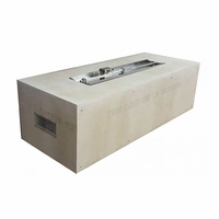 60in. Rectangular Ready to Finish Fire Pit Kit - Match Light
