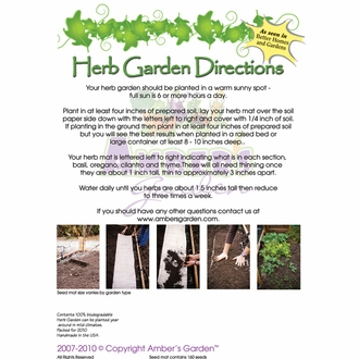 Ready to Plant Seed Starter Kit - Herb Garden