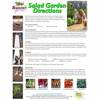 Ready to Plant Seed Starter Kit - Salad Garden