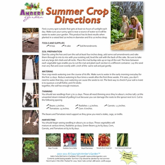Ready to Plant Seed Starter Kit - Summer Crop