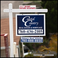 "Real Estate Signs - Double Sided Printed on 6""H x 24""W"