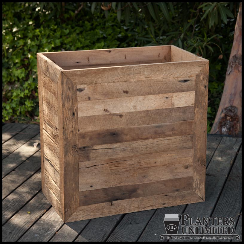 Recycled Wood Planters Reclaimed Barn