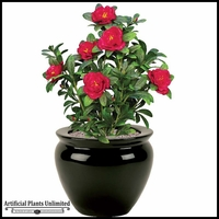 Red Azalea Bush 18in. Indoor Artificial