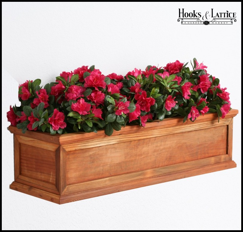 Redwood planter boxes redwood framed cottage window box - Wooden containers for flowers ...