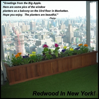Redwood Planter Boxes