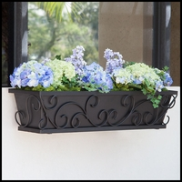 Regalia Decora Window Boxes with Black Galvanized Liners