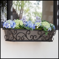 Regalia Decora Window Boxes with Bronze Galvanized Liners