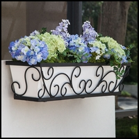 Regalia Decora Window Boxes with White Galvanized Liners