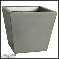 Remus Fiberglass Tapered Square Planter - Matte Charcoal