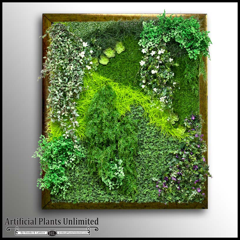 Framed Wall Hanging Replica Plants Artificial Plants