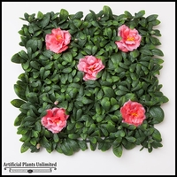 Rhododendron Azalea Foliage Tile, Pink- 12in. Square, Indoor