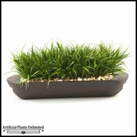River Grass in Oblong Wooden Planter, 28 in.