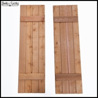 Rough Sawn Cedar Board and Batten Shutter Pair - 15in. W