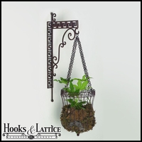 Rustic Bronze Finish Gold Greek Bracket And Hanging Basket