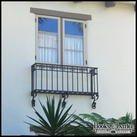 Salerno Faux Balcony w/ 8in. Wall Offset and Wall Scrolls